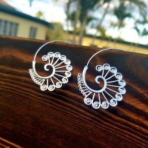 Jewelry - Lightweight Silver dipped Spiral Earrings